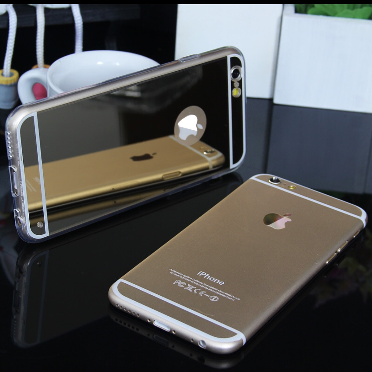 Soft reflective mirror phone case for iphone and samsung for Mirror your phone