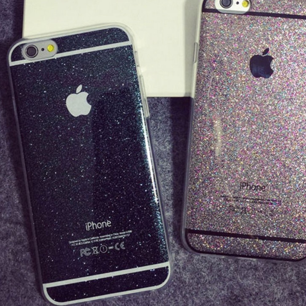Black Glitter Iphone  Case