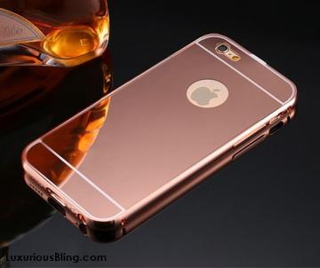 gold aluminum frame iphone case1