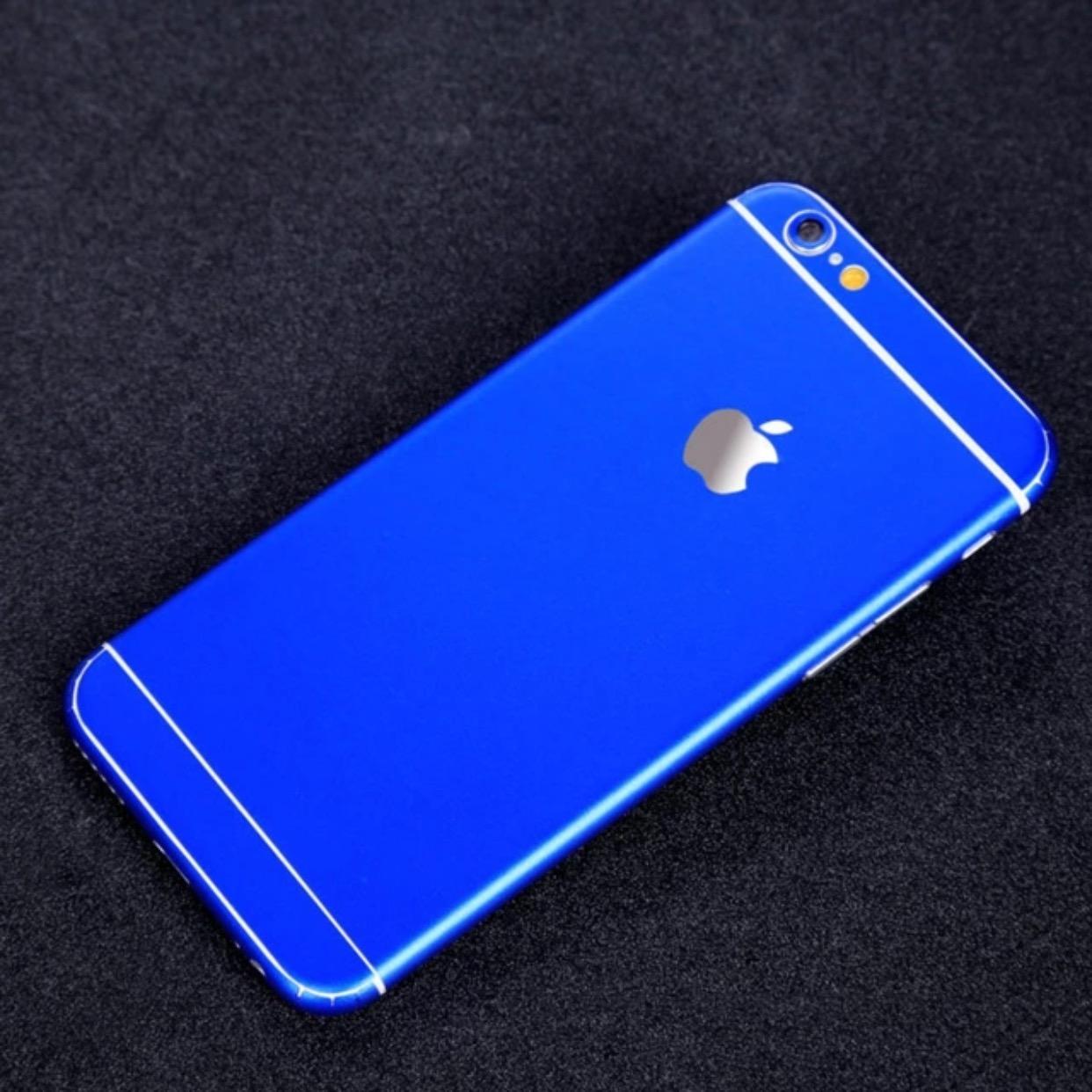 matte iphone skin blue