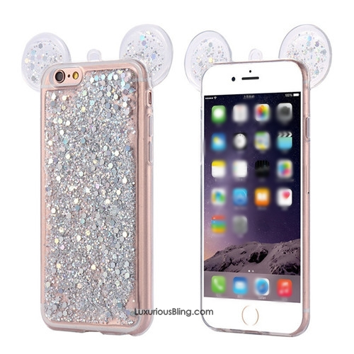 brand new 24ece 8ef91 Cute Mouse Ears Glitter iPhone 6 Case - iPhone 6 /6s iPhone 6 /6s Plus